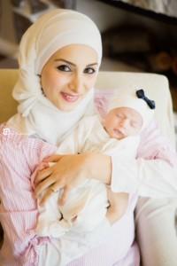 newborn with mommy