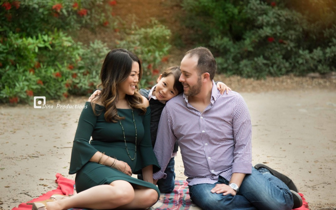 Holiday Photoshoot of Eric, Elaine and Noah